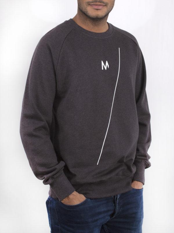 M-sweater donkergrijs—M