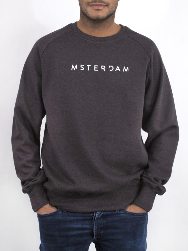 MSTERDAM-sweater donkergrijs—M