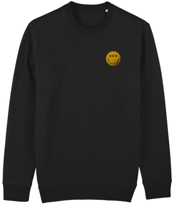 acidsmiley-sweater-black